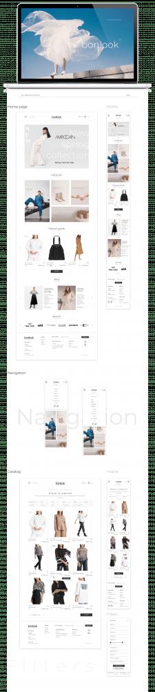 Дизайн интернет-магазина одежды Bonlook UI/UX