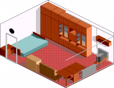 Интерьер в стиле пиксель-арт