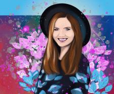Girl (Portrait), Digital