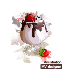 "Иллюстрация ""milkshake"""