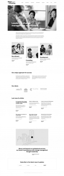 Веб дизайн - Allegra Consulting
