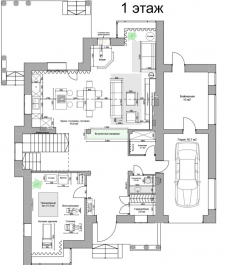 1 этаж Дом 300м2