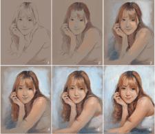 Портрет. Процесс рисования.