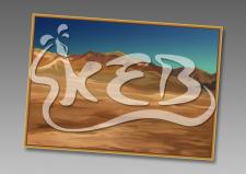 Пустыня (растровая иллюстрация)