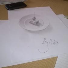 3Д канапе на тарелке