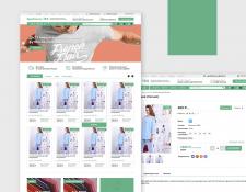 Дизайн Интернет магазина Текстиль