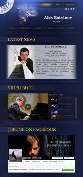 Разработка Лендинга для пианиста
