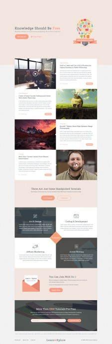 Landing page for Knowledge