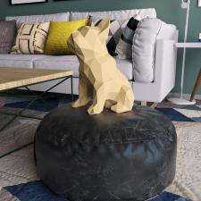 Paper craft dog