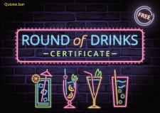 Макет сертификата бесплатных коктейлей