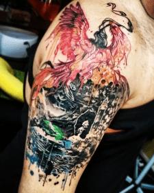 Тату феникс tattoo phoenix