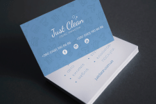 "Business card ""Justclean"""
