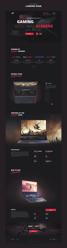Asus ROG | Landing page