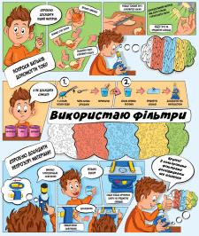 Инструкция - комикс для детского микроскопа