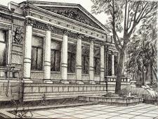 эскиз для офорта Исторический музей Днепропетровск