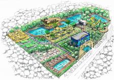 Ручная визуализация аквапарка