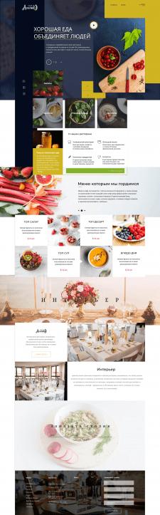 Дизайн интерфейса (ресторан)