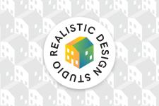 Логотип студии дизайна интерьеров Realistic