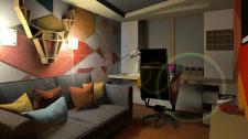 Эскизный вариант дизайна комнаты 11 м кв.