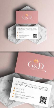Разработка визитных карт для Glamour&Dog