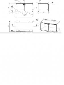 Моделирование простой тумбы в базис мебельщике