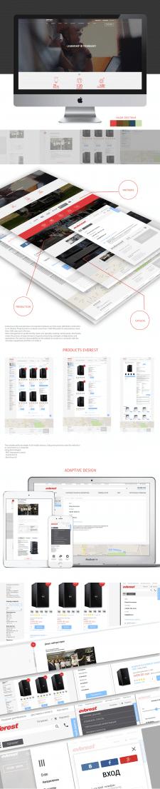 Дизайн интернет-магазина everest