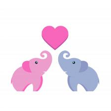 Милая иллюстрация слоников)