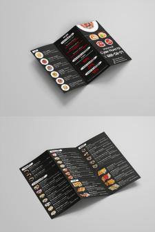 Дизайн Лифлета (меню) для суши кафе Кинг Ролл