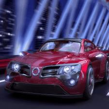 Автомобиль в ночном городе