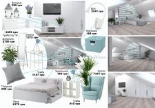Дизайн интерьера спальни на мансардном этаже