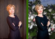 Обработка женского ростового портрета