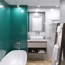 Дизайн-проект квартиры 50 м2. Санузел 4,1 м2