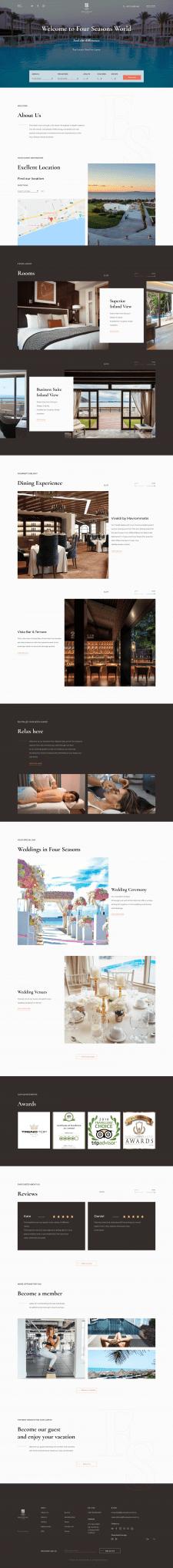 Редизай сайта отеля Four Seasons