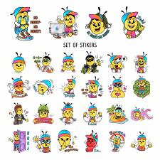 Set of stiker
