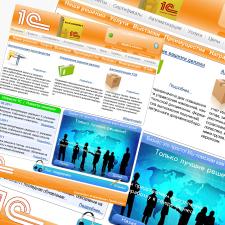 Дизайн сайта по услугам 1С