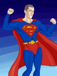 """Портрет до колен """"Супермен"""""""