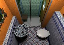 Санузел в марокканском стиле