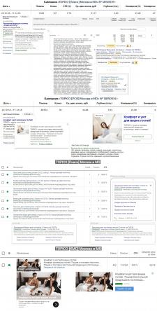 Текстиль для гостиниц и отелей - Директ + Adwords