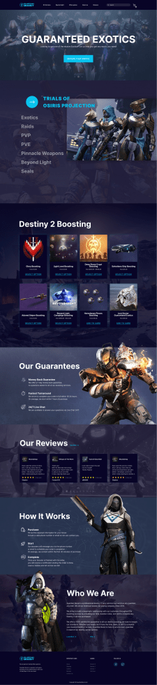 Video Game Boosting Store For Destiny 2