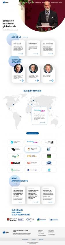Главная страница образовательного сайта