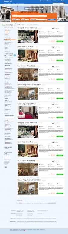 Booked.net - список отелей в городе.