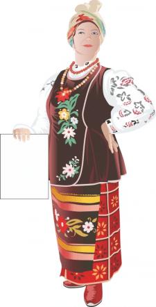 Украинка в костюме