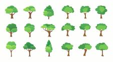 Иконки деревьев - цветные