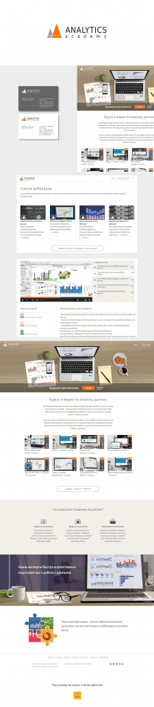 Академия Аналитики, лого и веб-дизайн