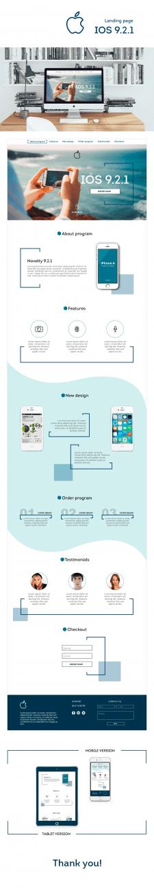 Разработка дизайна сайта IOS приложения