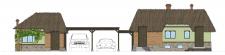 Ансамбль ( хоз.будівля, пергола, баня)