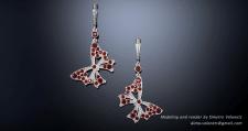 Butterfly jewelry set , Earrings