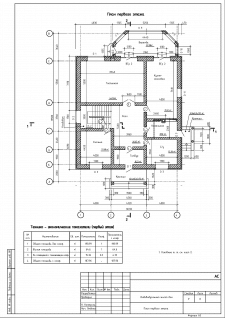 АС. Лист 8. План первого этажа
