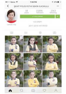 """Школьный фотоальбом стилизованный """"Instagram"""""""