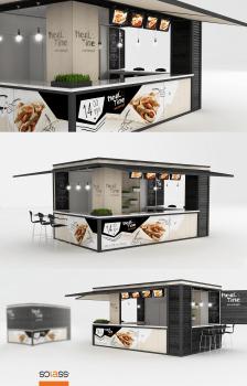 Дизайн точки продаж фастфуда для Solass